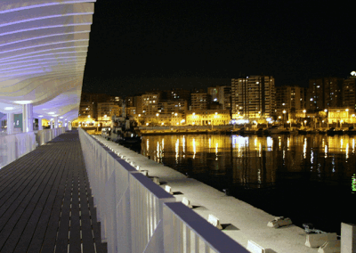 tarima exterior puerto de Málaga - Parquet Astorga