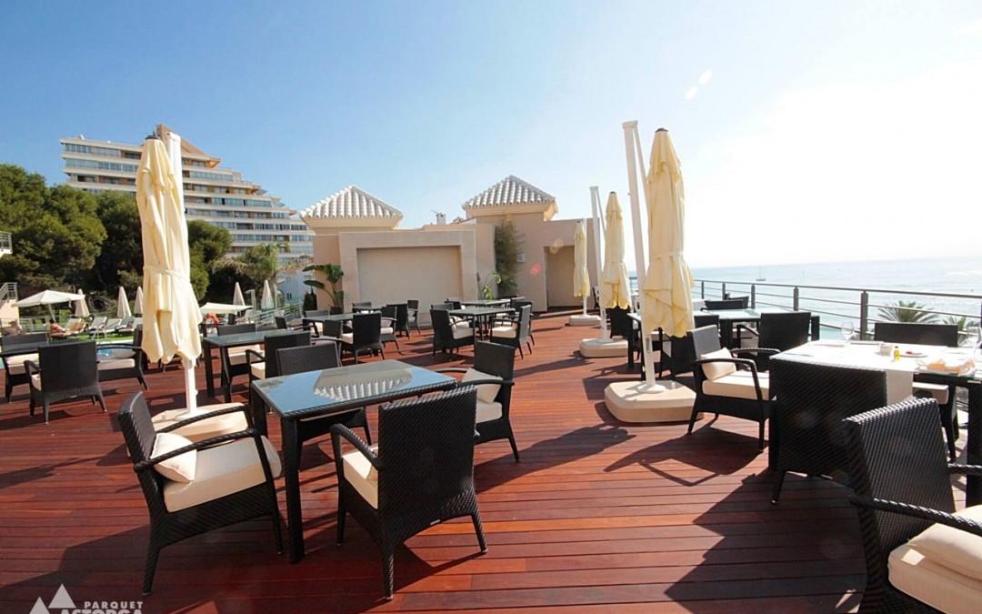 terrazas al aire libre en hoteles y restaurantes es