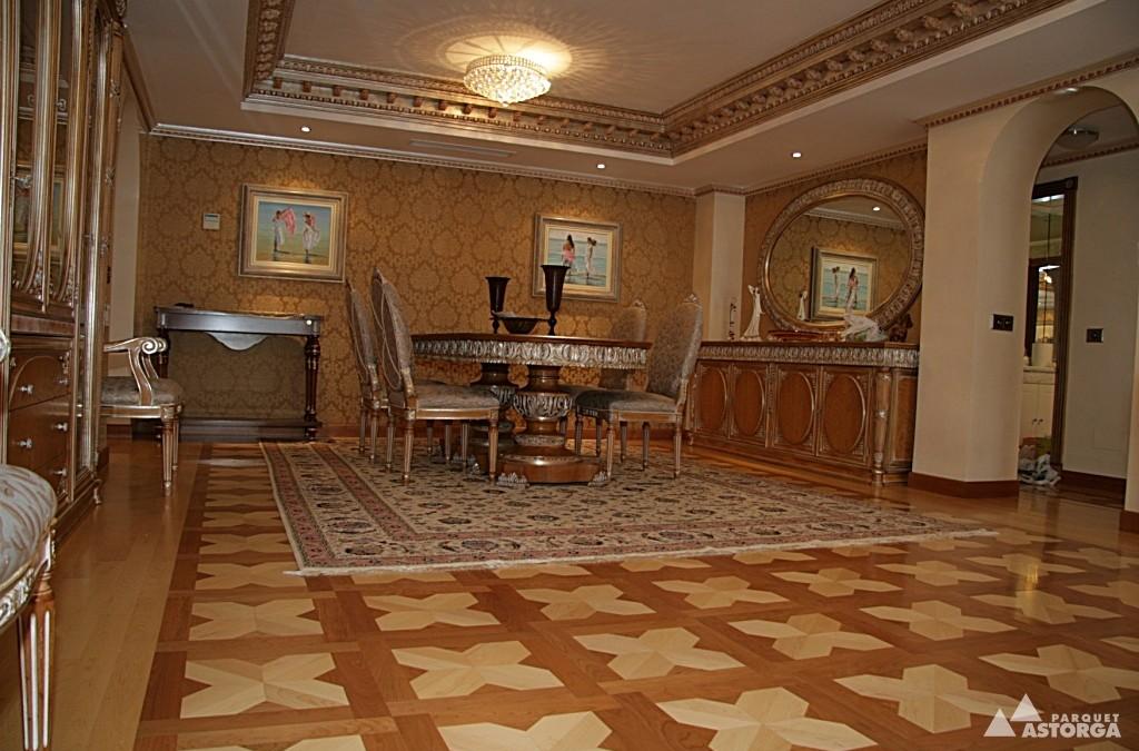 """Combinación de madera y mármol para crear los suelos más lujosos y """"refinados"""""""