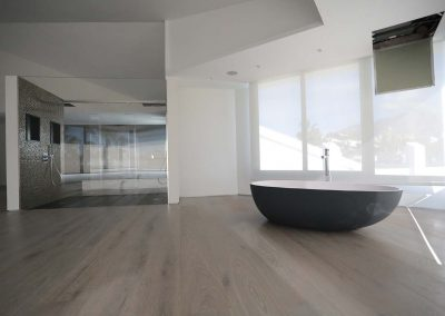 Floating platform groove in Parquet Astorga