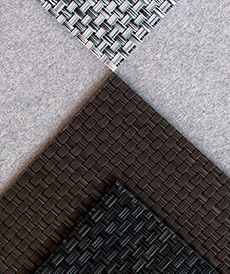 detalle alfombra vinílica antibacteriana wicker